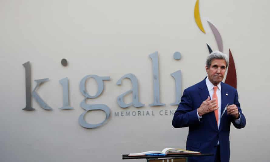 US secretary of state John Kerry in Kigali.
