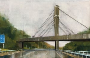 Significant Structures motoway bridge painting by artist Jen Orpin.