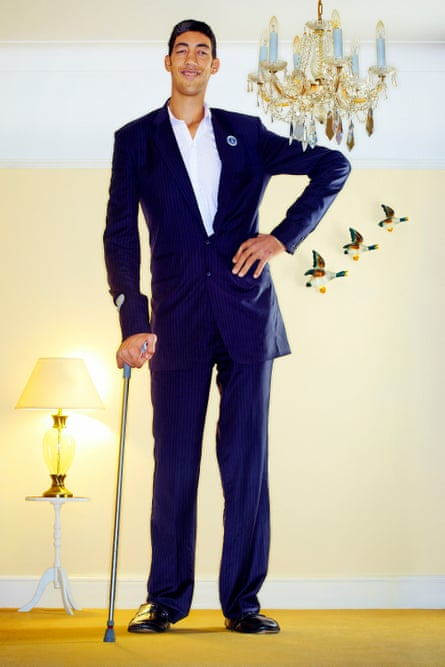 Sultan Kösen, from Turkey, is the tallest man alive measuring 8ft 3in in 2011.