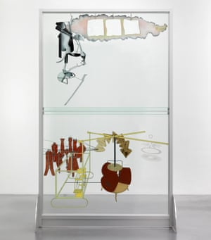 The Bride Stripped Bare by her Bachelors, Even (The Large Glass) with Richard Hamilton's 1960s reconstruction.
