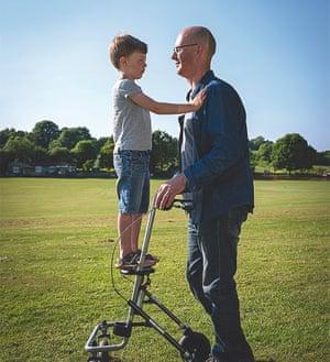 Joe Hammond with his older son, Tom