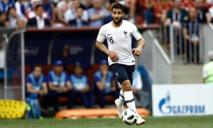 Nabil Fekir in action for France at the World Cup.