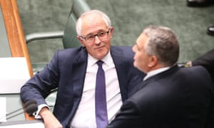 Question Time Tuesday 15/9/15<br>The Prime Minister Malcolm Turnbull listens to Treasurer Joe Hockey during question time in the house of representatives this afternoon. Tuesday 15th September 2015. Photograph by Mike Bowers
