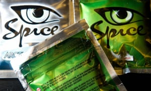 Spice on sale as a 'legal high' in London before it was banned.