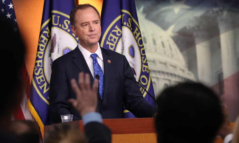 Representative Adam Schiff, chairman of the House intelligence committee, speaks to the media in Washington Wednesday.