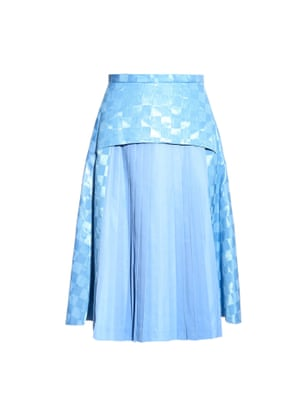 "£248, Toga at <a href=""http://www.matchesfashion.com/products/Toga-Moire-check-print-pleated-skirt-1028437"">matchesfashion.com</a>"