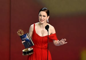 Rachel Brosnahan wins for outstanding Lead Actress in a Comedy Series, 'The Marvelous Mrs. Maisel'.