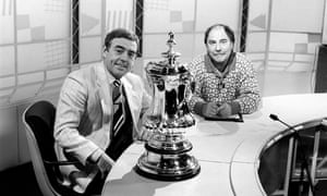 Ian St John and Jimmy Greaves prepare to go on air.