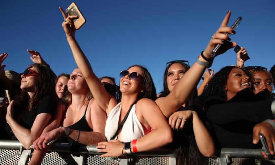 Crowds at the Six60 concert in Waitangi, New Zealand in January. The event was the largest outdoor concert New Zealanders had been able to attend since the start of the Covid-19 pandemic.