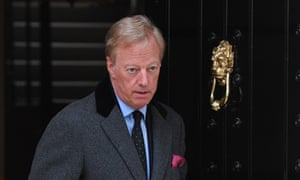 Mark Thatcher leaves his late mother's home in central London in 2013