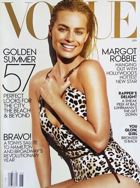 Margot Robbie on the cover of the Vogue June 2016 edition