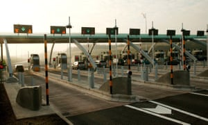 Weeford Park toll plaza on the M6 motorway