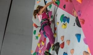 La Rosiere climbing wall.