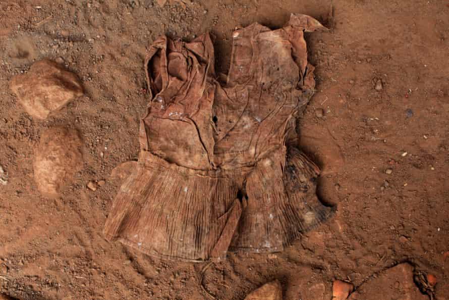 A dress found at an exhumation site in the village of El Mozote, El Salvador, in 2017.