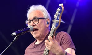 The Trevor Horn Band performs on stage at the Cornbury festival in Oxford, in July 2019.