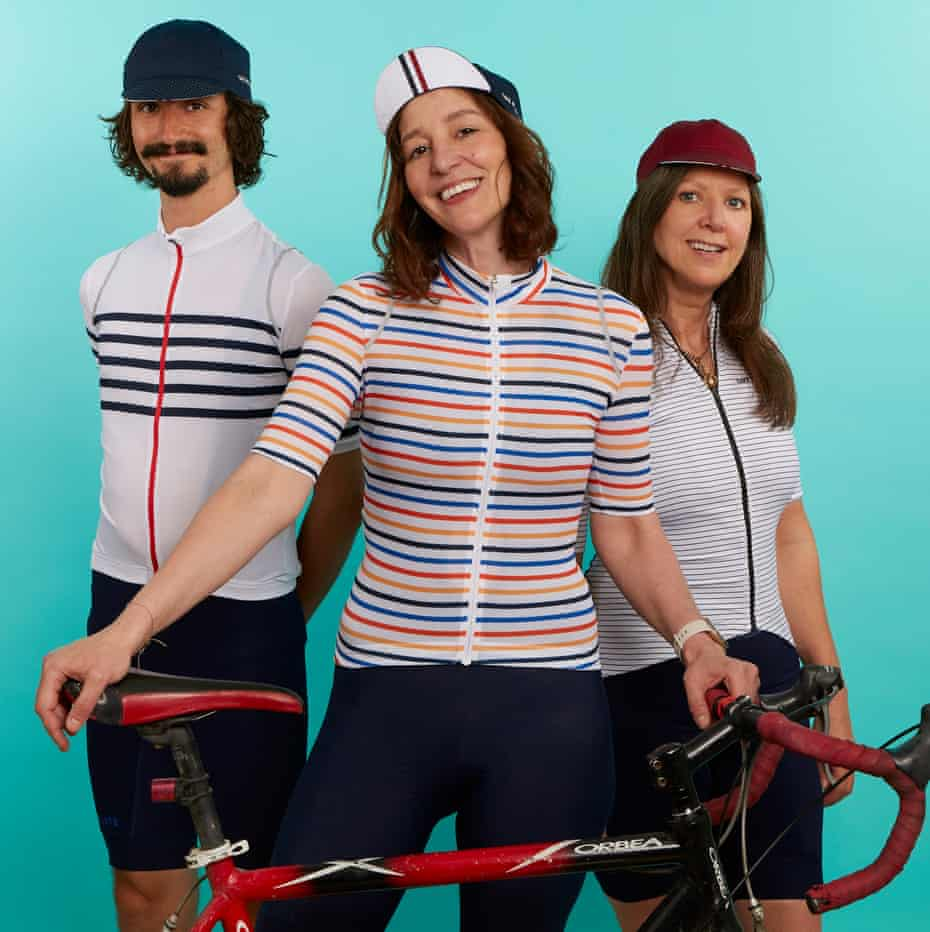 Zoe Williams and two cyclists