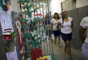 Prisoners leave their cells to attend the annual Christmas event