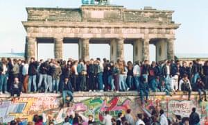 The Berlin Wall in 1989