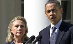 Barack Obama and Hillary Clinton.