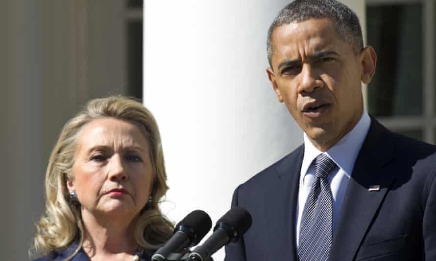 Barack Obama and Hillary Clinton.