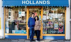 Kishor and Indu Vithlani outside Hollands, Ricksmansworth
