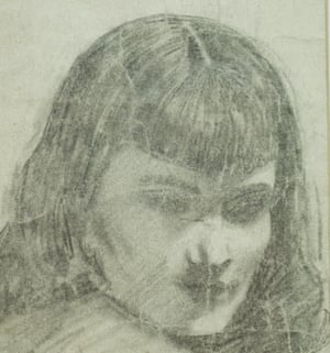 Marcel Marceau's drawing of Blanche Marvin.