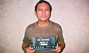Manuel Noriega in custody in Miami in 1990.