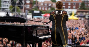 Three hours of high energy … Elton at Hove.