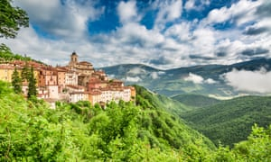 A typical hill-top town in Umbria. The area is known as the 'green heart of Italy'.