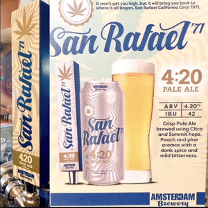 San Rafael '71's 4:20 beer contains 4.20% alcohol content – but no cannabis.