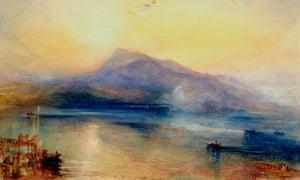 JMW Turner's The Dark Rigi, the Lake of Lucerne