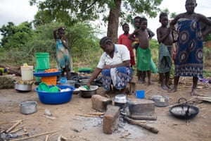Camps have been set up for families hit by the flooding in Malawi, such as this one at Mgunda in Nsanje district.