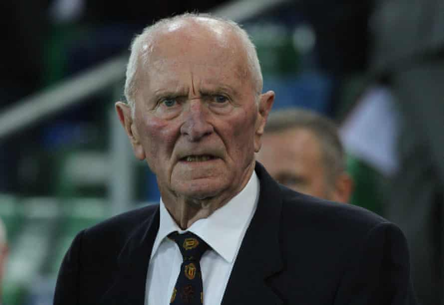 Harry Gregg at Windsor Park, Belfast, in 2016.
