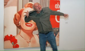 James Rosenquist jokes in Paris in 2001, in front of his painting Joan Crawford says, from 1964.
