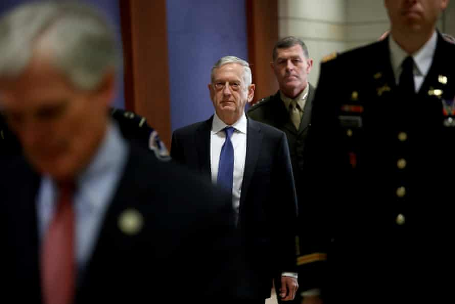 Jim Mattis seen at the Capitol earlier this month.