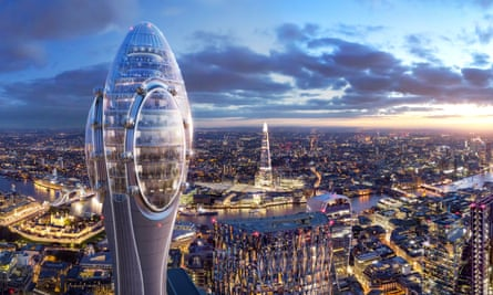 An artist's impression of Norman Foster's Tulip building in the City of London