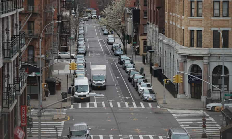 An almost empty street in Williamsburg, Brooklyn, New York
