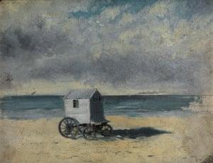 Bathing Hut, 29-30 July 1876 by James Ensor.