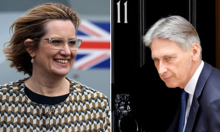 Amber Rudd and Philip Hammond