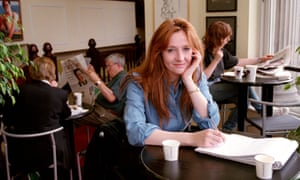 In this photo from July 1998, JK Rowling is working on Harry Potter and the Chamber of Secrets in a café.