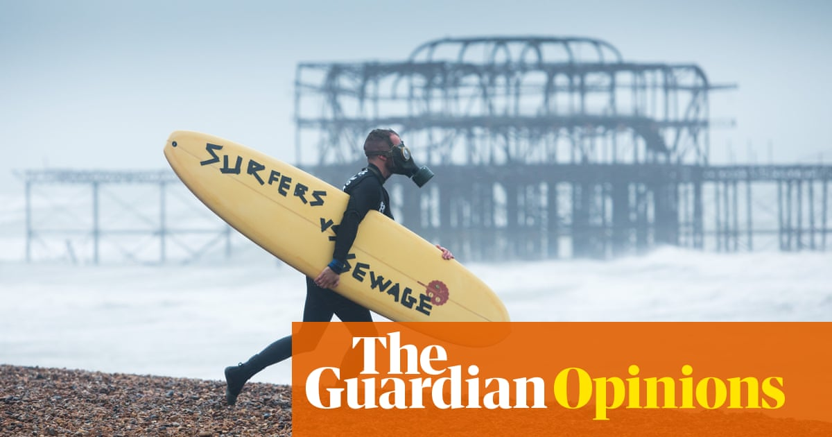 What does a stream of raw sewage symbolise? Broken Brexit promises, for one