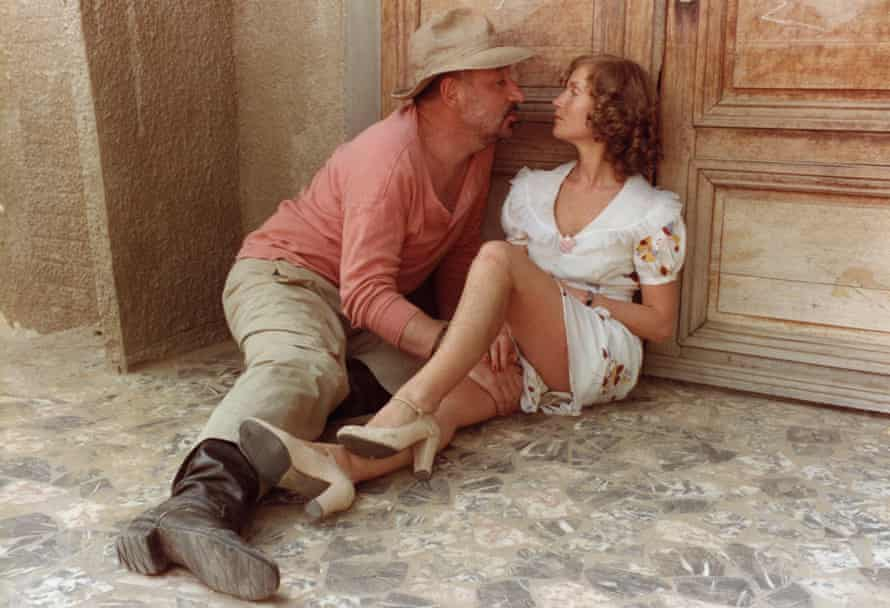 Philippe Noiret and Isabelle Huppert in Coup de Torchon, 1981, Tavernier's adaptation of Jim Thompson's novel Pop. 1280.