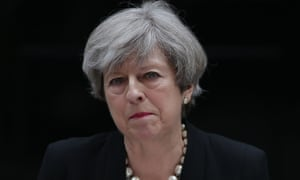 Britain's Prime Minister Theresa May delivers a statement outside 10 Downing Street in central London on May 23, 2017 after an emergency meeting of the Cobra committee in response to a deadly suspected suicide bombing in the northern city of Manchester. Children were among 22 people killed and dozens injured in a suspected suicide bombing at a pop concert by US star Ariana Grande, in Britain's deadliest terror attack in 12 years. / AFP PHOTO / Daniel LEAL-OLIVASDANIEL LEAL-OLIVAS/AFP/Getty Images