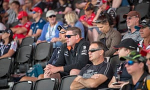 Infuriating the middle-class suburbs … spectators at the race