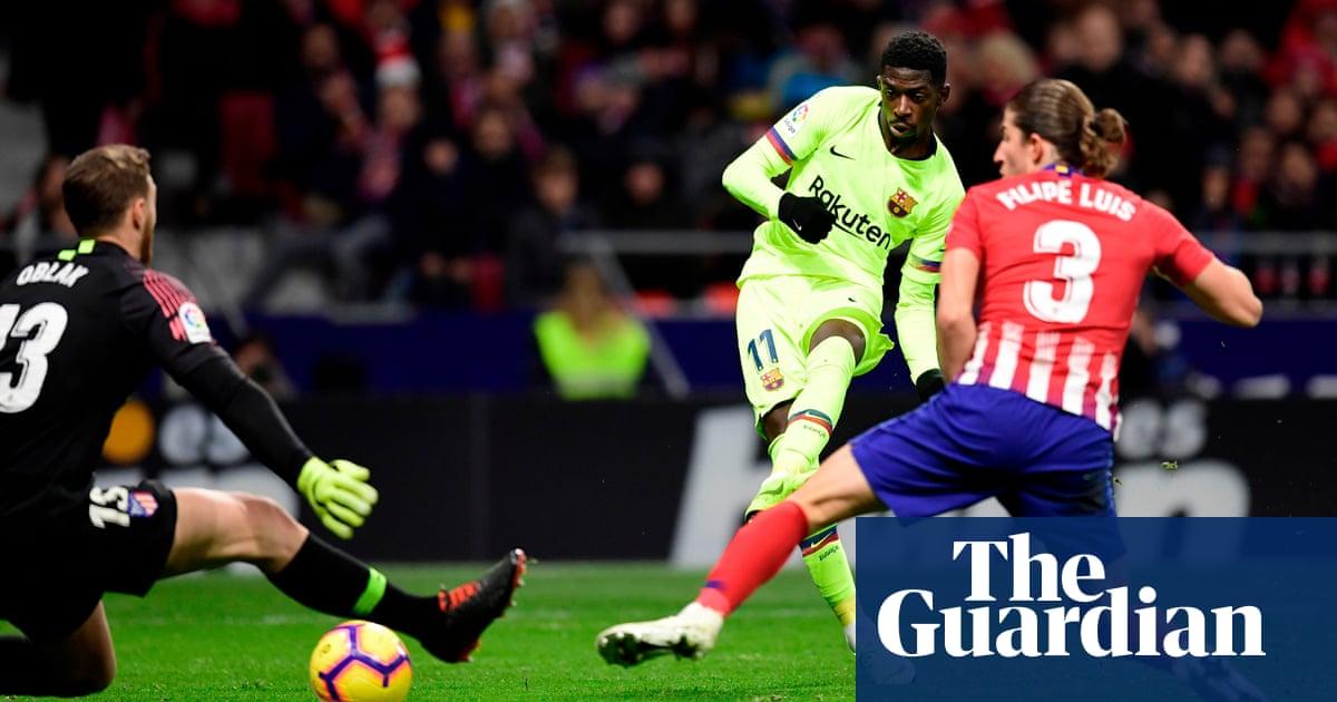 c162359b6b1 Ousmane Dembélé s last-gasp goal saves draw for Barcelona at ...