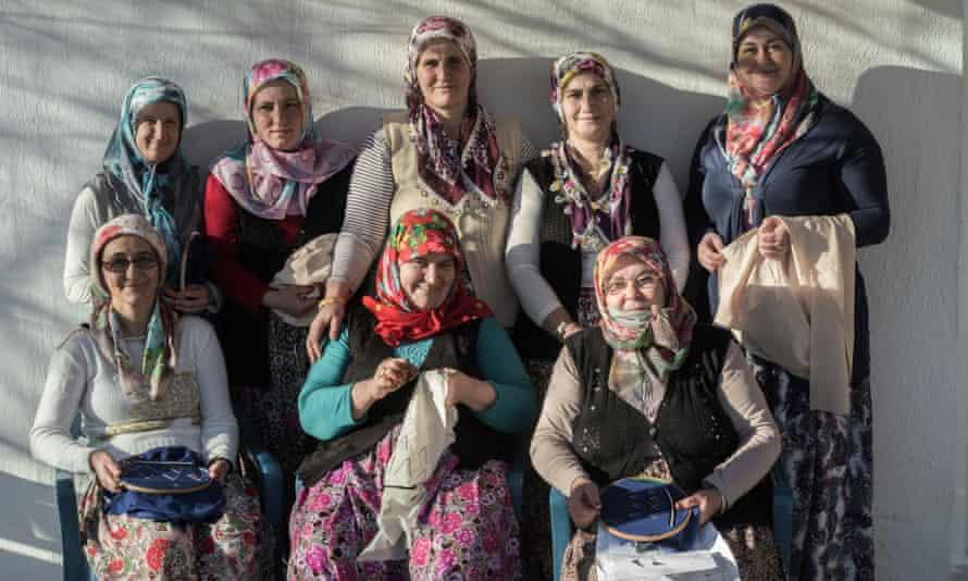 Group of weavers from Pomakohoria, Greece