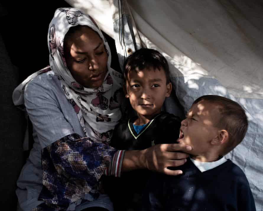 In Afghanistan I was a teacher. I lived with honour. During the night with my three children, we are shaking with fear.
