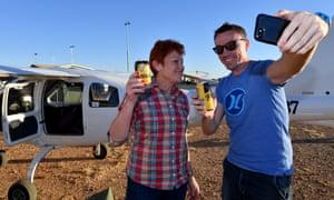 One Nation leader, senator Pauline Hanson and her political advisor James Ashby