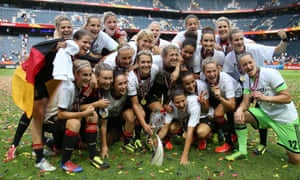 Germany, who have dominated the women's Euros since its inception, celebrate after winning the 2013 final in Sweden.