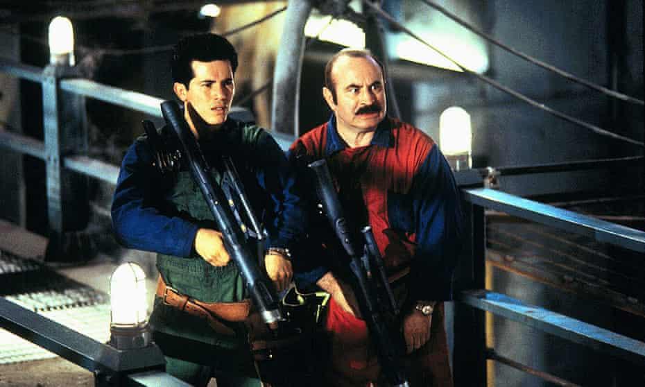 John Leguizamo and Bob Hoskins in Super Mario Bros: The Movie.